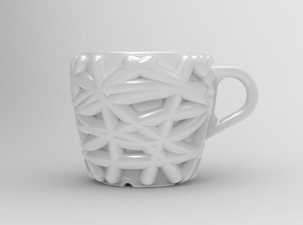 one cup a day | Day 04: Bird Nest Cup 3d printed front view