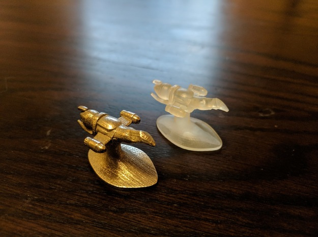Merchant of Venus Game Piece: Serenity in Polished Bronzed Silver Steel