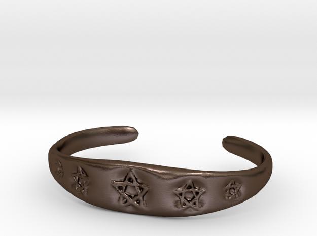 Pentagram Cuff in Polished Bronze Steel