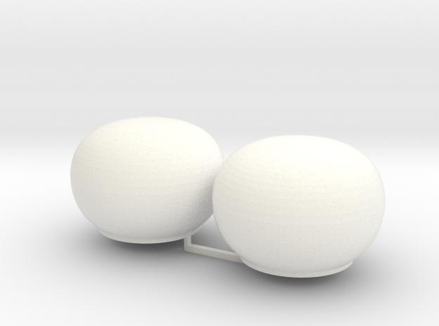 2x Satcom Dome 1/100 in White Processed Versatile Plastic