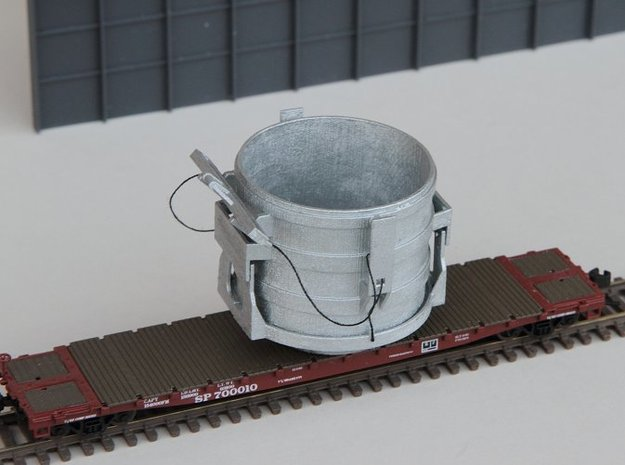 N-scale 16 ft Scrap Bucket in Frosted Ultra Detail