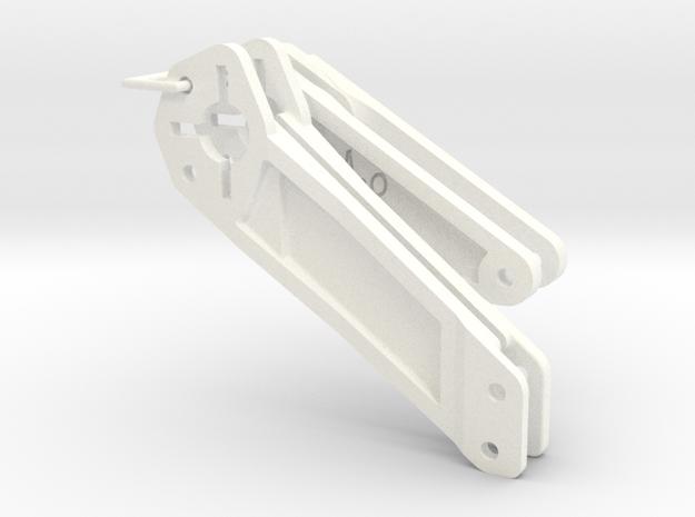 060001-02 M. Beetle Rear Rear Body Mount Brace Amp in White Processed Versatile Plastic