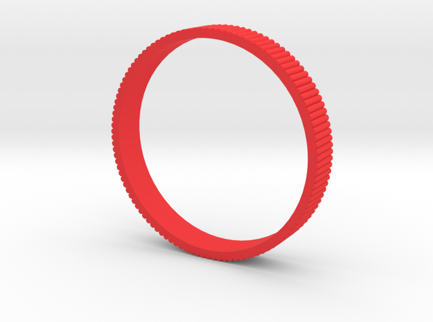 INGRANAGGI Bangle BOLD 1cm_zigrinatura thin in Red Processed Versatile Plastic