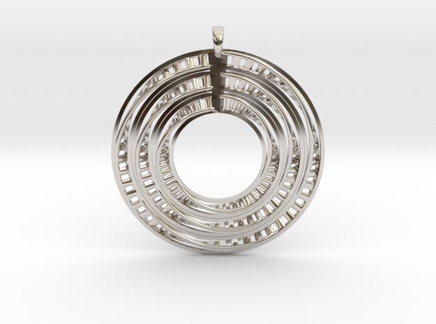 Genetical-Circle in Rhodium Plated Brass