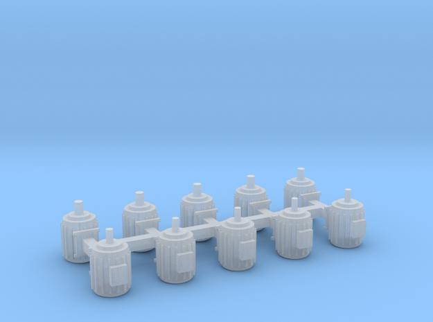Elektromotoren Größe A 10er Set - 1:87 H in Smooth Fine Detail Plastic