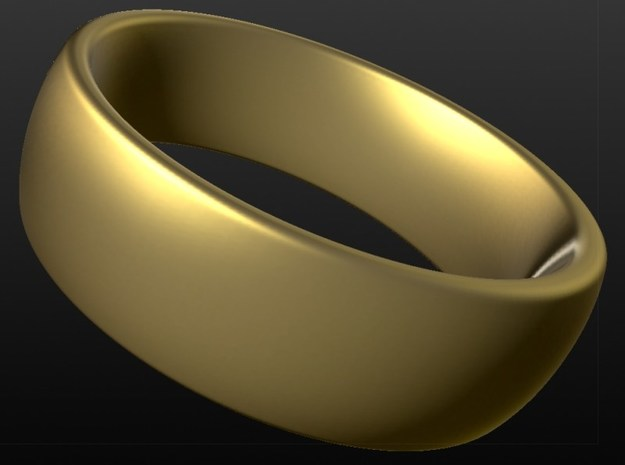 Wedding ring for female 17mm in 18k Gold Plated