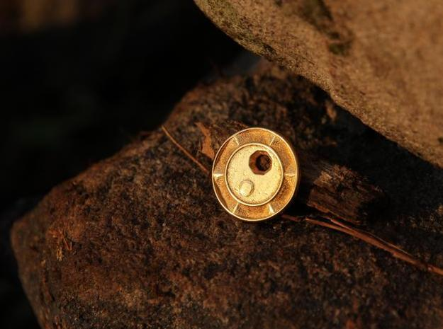 Gold Coin in Polished Gold Steel