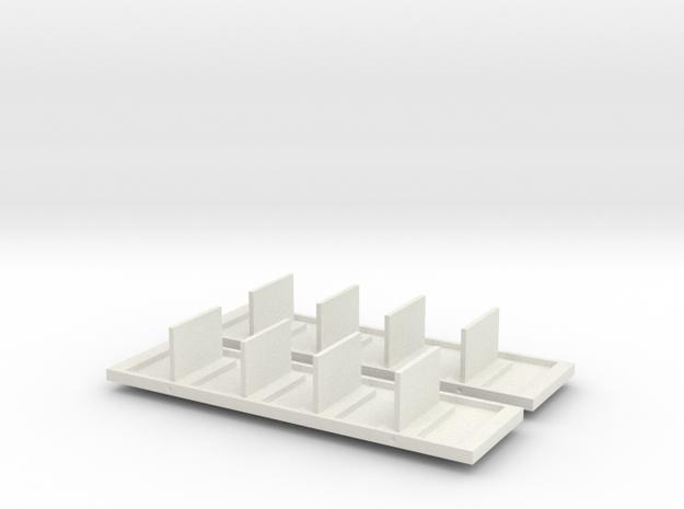 Abteilwagen II. Fl Inneneinrichtung 2x in White Natural Versatile Plastic