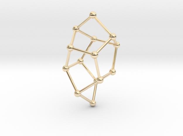 Pentasil Pendant in 14k Gold Plated