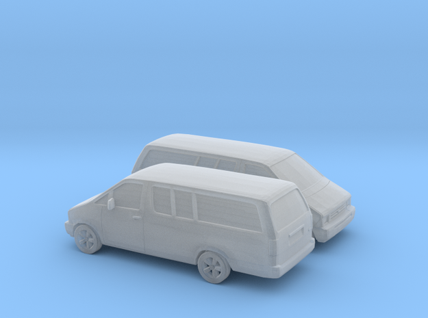 1/160 2X 1986-95 Ford Aerostar Extendet in Frosted Ultra Detail