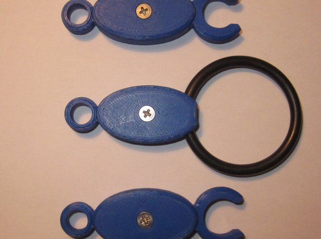 SCUBA - C. LP And HP Hose Clip And Octopus Holder in Black Strong & Flexible