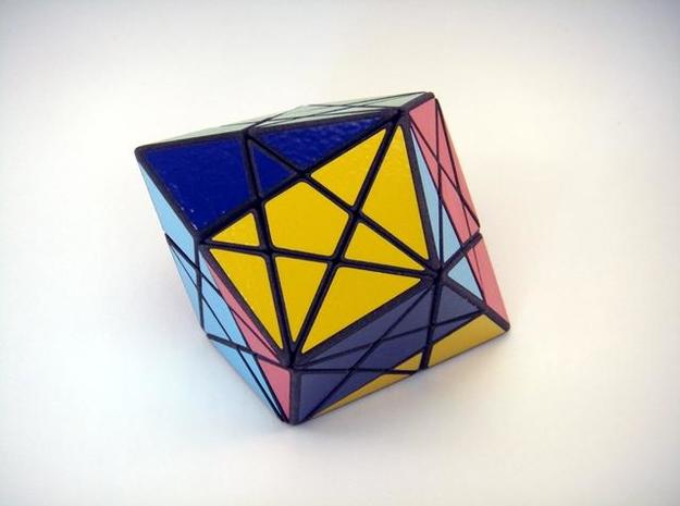 Twisted-8 Puzzle 3d printed Edge Turn