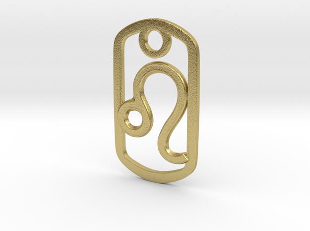 Leo Pendant in Natural Brass