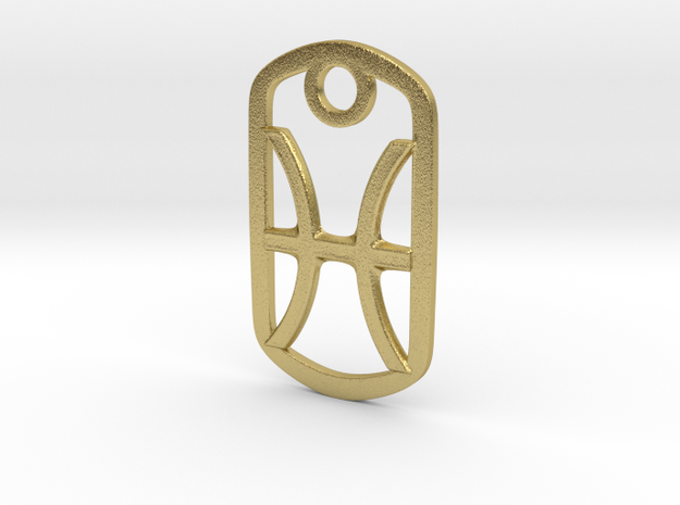 Pisces Pendant in Natural Brass