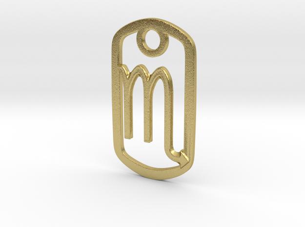 Scorpio Pendant in Natural Brass