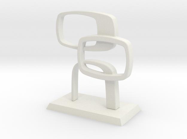 Desktop Contempo Sculpture in White Strong & Flexible: Medium