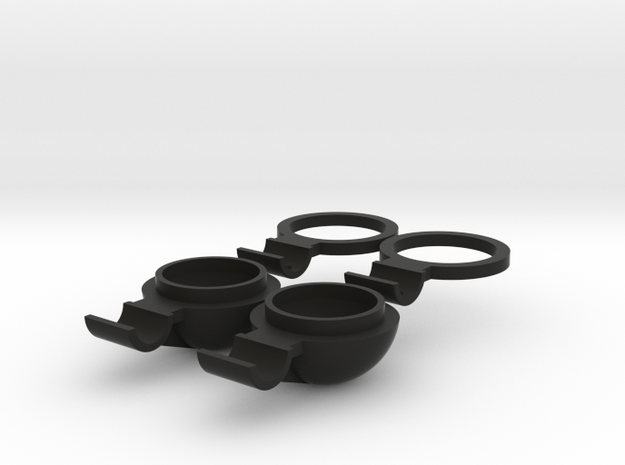 Marui Fog Lights ring and body in Black Strong & Flexible
