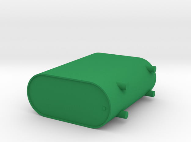 Heating Oil Tank for Model Railroad in Green Processed Versatile Plastic: 1:87 - HO