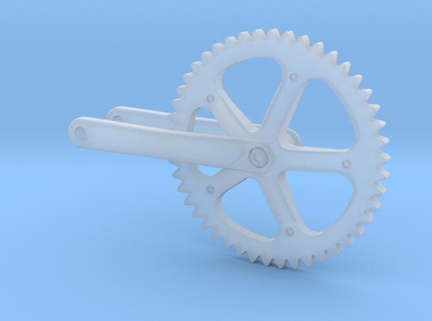 1/18 Sram Omnium bicycle crankset in Smooth Fine Detail Plastic
