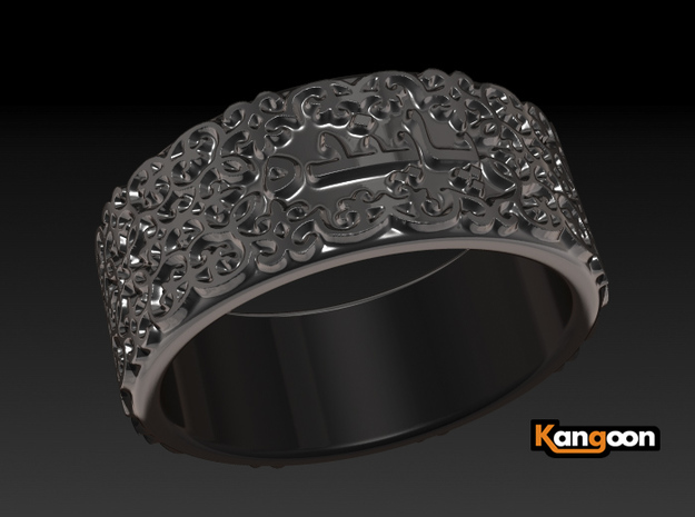 forever - Ring - unique - 3d printed preview render