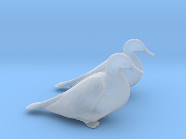 Ducks Mallard Sitting in Smoothest Fine Detail Plastic: 1:64 - S
