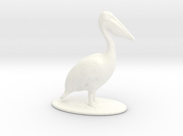 Pelican in White Processed Versatile Plastic: 1:64 - S