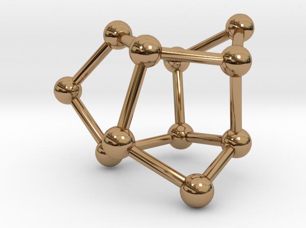 Ufosane pendant in Polished Brass