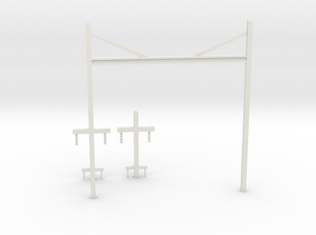 Prr catenary v1 in White Strong & Flexible: 1:87 - HO