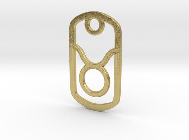 Taurus  Pendant in Natural Brass