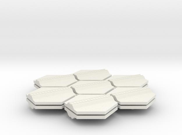1/285th scale Railroad track set (14 pieces) in White Natural Versatile Plastic