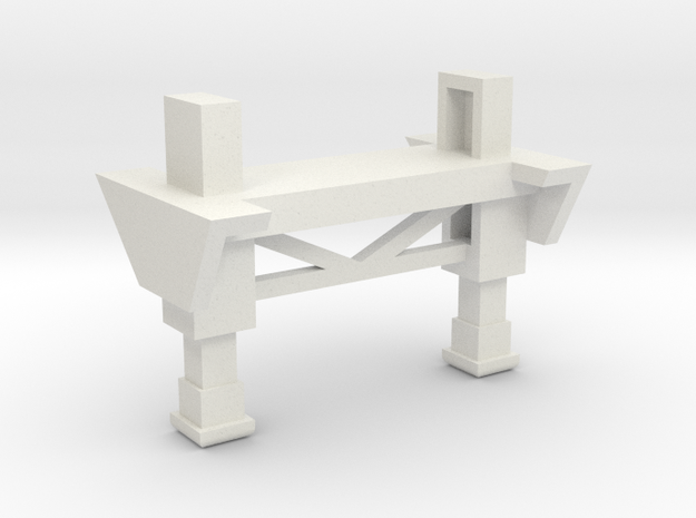 Landing Gear 1-87 HO Scale in White Natural Versatile Plastic