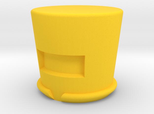 aim in Yellow Processed Versatile Plastic