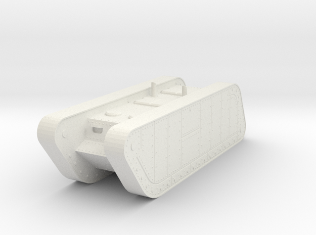 1/100 Trench Tank APC in White Natural Versatile Plastic
