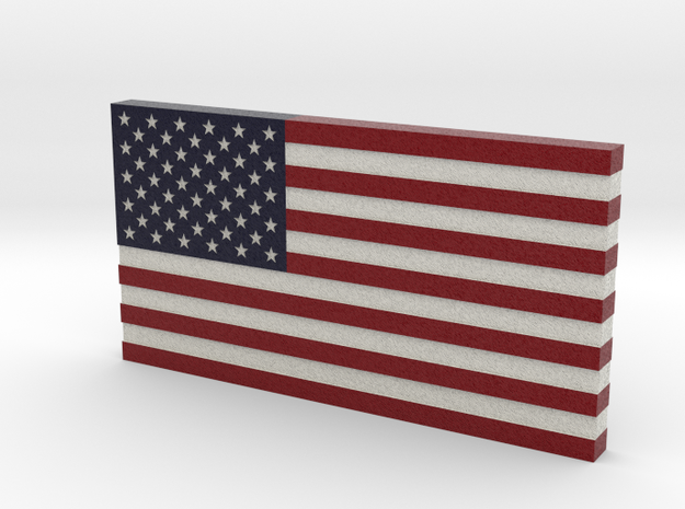 USA Flag V2 in Full Color Sandstone