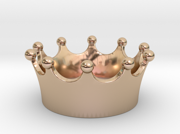 Simple crown pendant in 14k Rose Gold Plated Brass