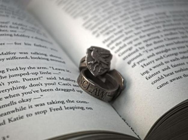 Ravenclaw Ring Size 11 in Polished Bronzed Silver Steel