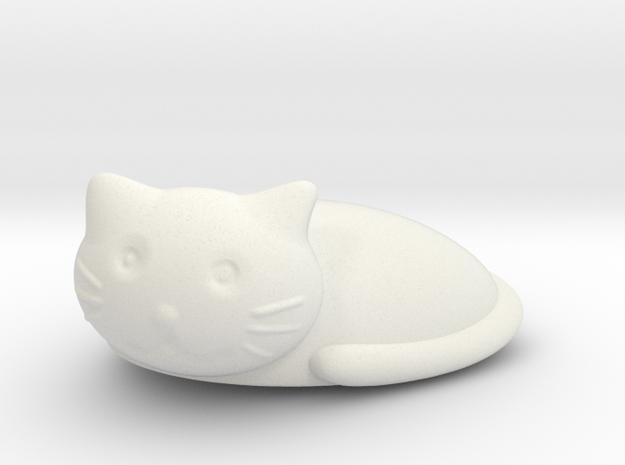 Cat 5 in White Natural Versatile Plastic: Small