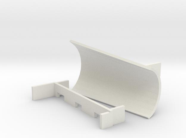 OO / HO Snowplough Type 5 Size 1 LEFT in White Natural Versatile Plastic