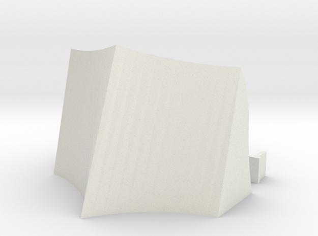 OO / HO Snowplough Type 2 Size 2 in White Natural Versatile Plastic
