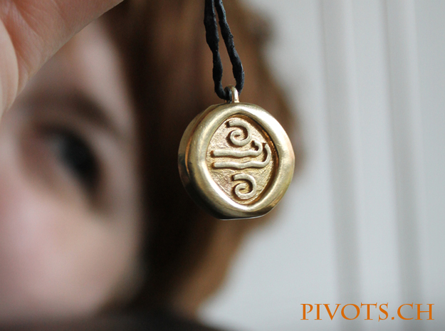 4 Elements - Air Pendant in Natural Brass
