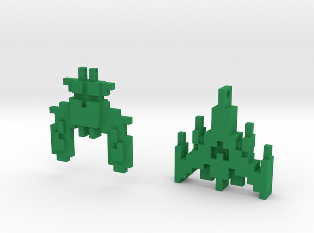 Galaga (set of 2) in Green Processed Versatile Plastic