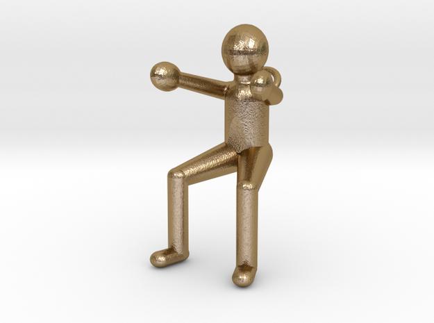 Porteur-Art-Porte-Clefs-NW in Polished Gold Steel
