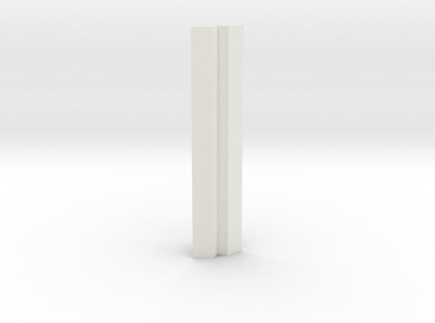shkr049 - Teil 49 Eckteil für Kreuzgang in White Natural Versatile Plastic