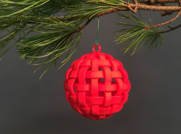 2016: Woven Sphere in Red Processed Versatile Plastic