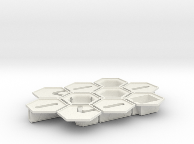 1/285th scale Connector set (10 pieces) in White Natural Versatile Plastic