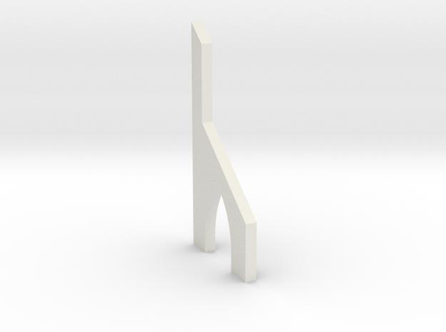 shkr053 - Teil 53 Stützmauerpfeiler mit Durchgang  in White Natural Versatile Plastic