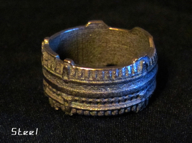 Star Gate Ring, Size 10 Ring Size 10 3d printed