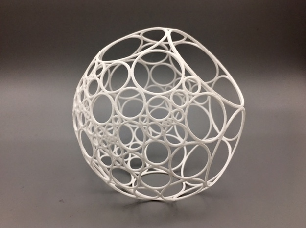 Bowers Circle Packing Ornament - 100 Circles in White Natural Versatile Plastic: Large