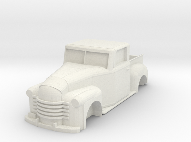 Chevy Truck 1951 Shell (Ho scale) in White Strong & Flexible