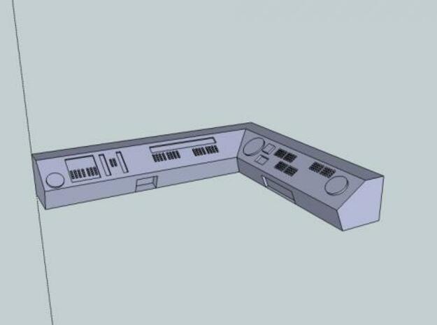 90 Degree Corner 15mm Scale Spacestation Control P 3d printed Description
